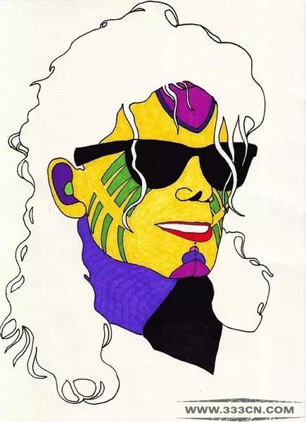 色彩丰富的创意头像插画人物设计艺术(1)汤晨室内设计图片