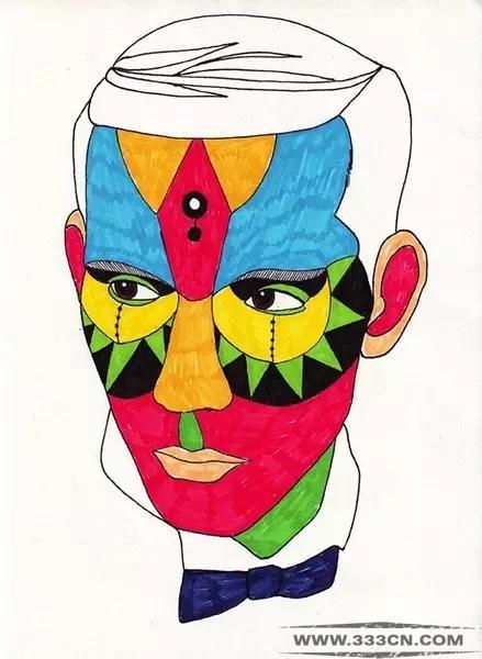 色彩丰富的创意插画人物头像设计艺术(1)华东建筑设计有几所图片