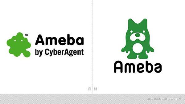 日本 CyberAgent公司 Ameba 新LOGO 标识设计