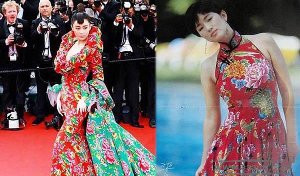 服装设计 奇葩女星 戛纳红毯造型 胡社光 巩俐
