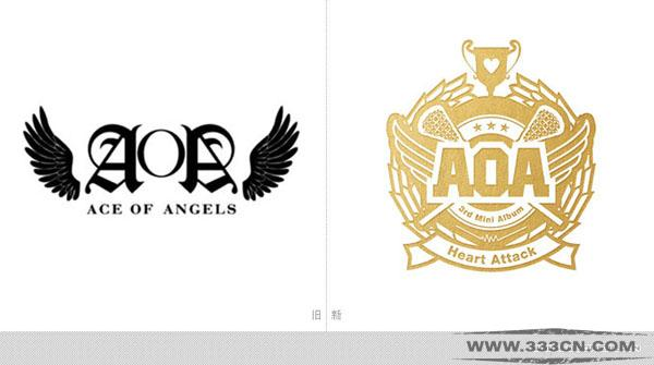 韩国 AOA 女子音乐组合 视觉形象 LOGO
