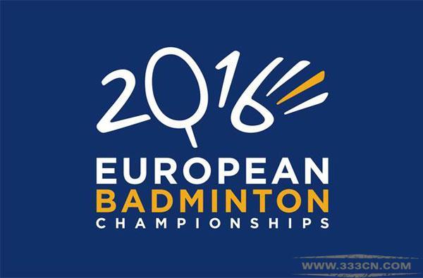 2016年 欧洲 羽毛球 锦标赛 会徽