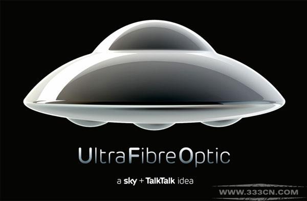 英国 光纤宽带 品牌 Ultra-Fibre-Optic 形象 标识