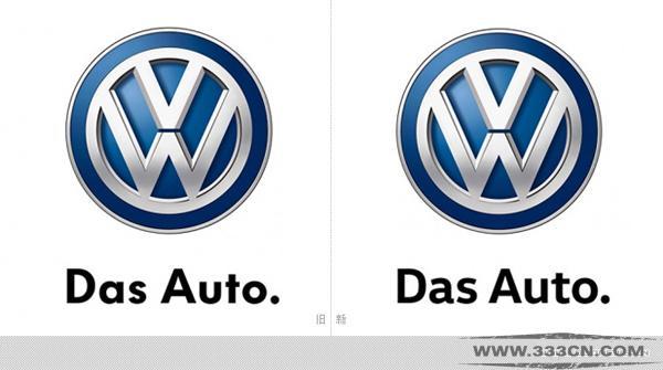 大众汽车 LOGO 字体 细节差异 全球市场