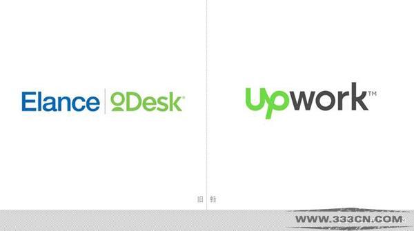 自由职业者 市场平台 Upwork 新LOGO logo设计