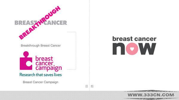 英国 Breast-CancerNow 乳腺癌 慈善机构 新形象