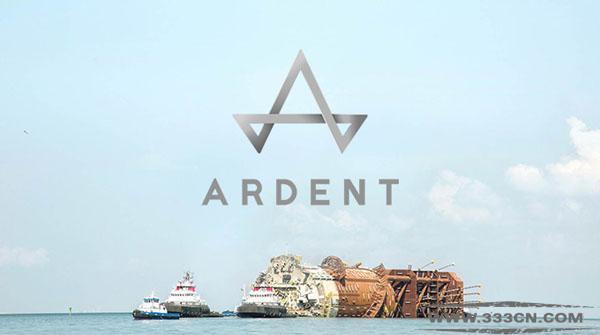 全新 海上救援公司 Ardent 形象 标识