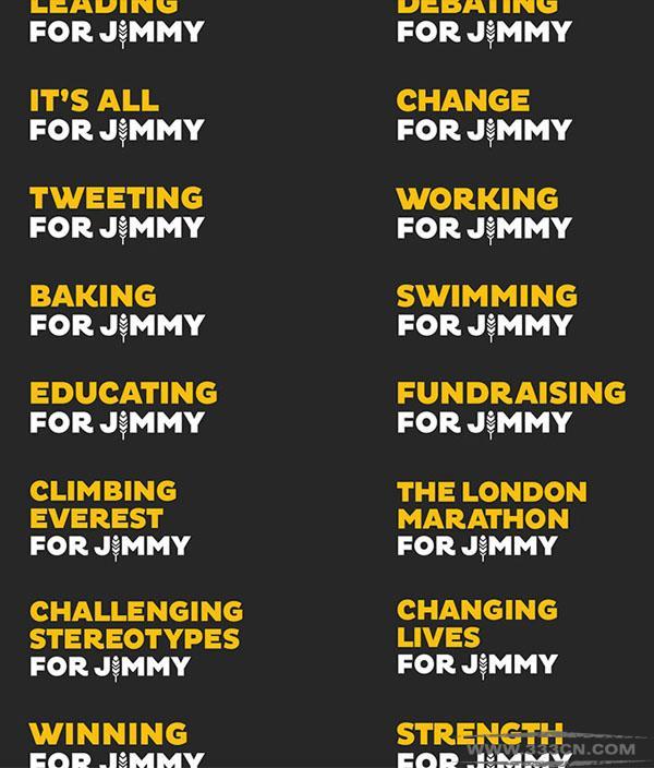 英国 For-Jimmy 基金会 新形象 标识