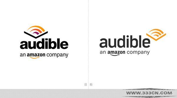 有声读物平台 Audible 新LOGO 创意 标识设计