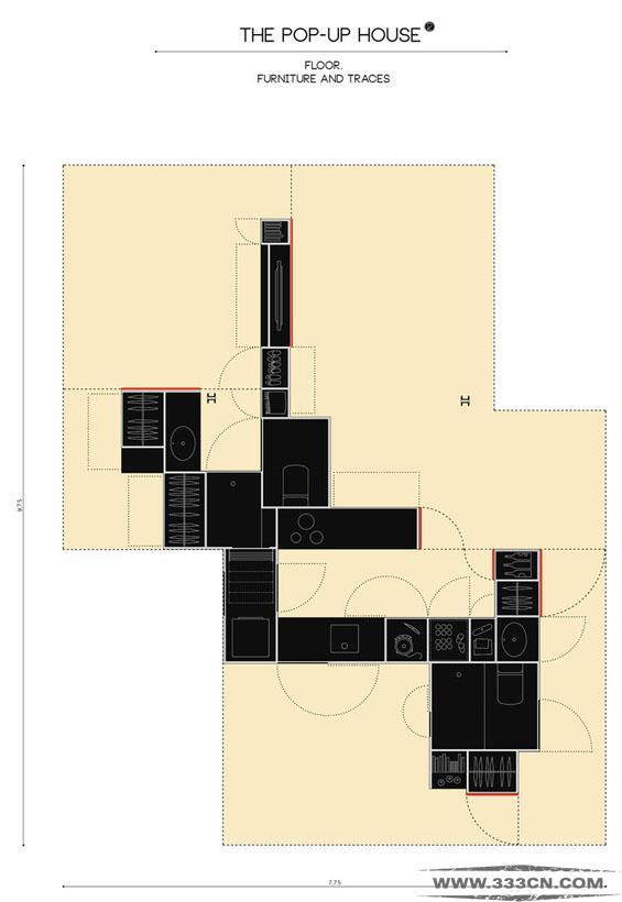 弹出式公寓 印度 马德里 旧住宅 建筑空间