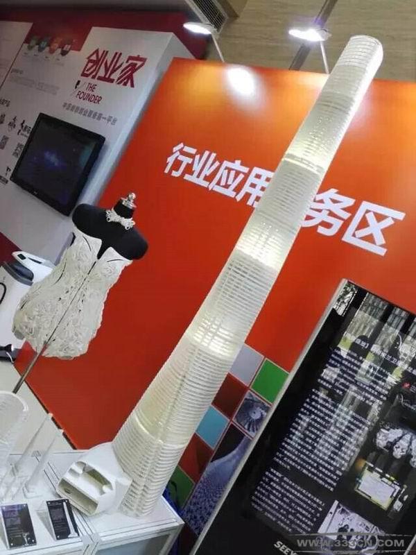 3D打印 全球最高建筑模型 上海亮相 3D打印世界 设计