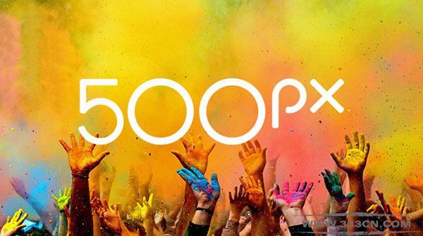 高品质 图片分享社区 500px 新LOGO 创意