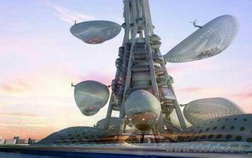 台湾省台中市 台湾塔 标志性建筑 Stefan-Dorin 设计大赛