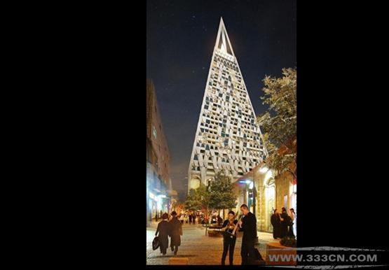 美国 里伯斯金 耶路撒冷 设计 金字塔