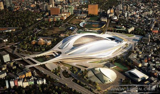 扎哈-哈迪德 日本 日建设计公司 日本东京体育场 竞标
