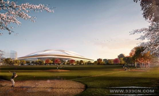 扎哈-哈迪德 Zaha-Hadid 东京 2020年 体育场 设计方案