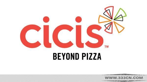 美国 自助 连锁披萨店 CiCiS 新LOGO