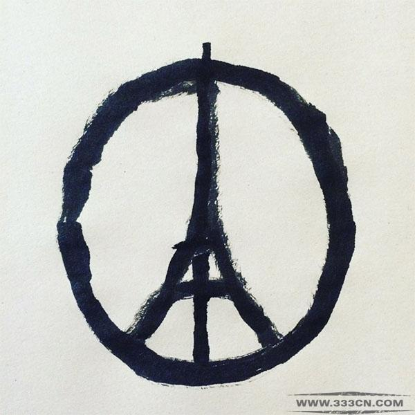 法国 连环恐怖袭击 巴黎和平 LOGO 疯传网络