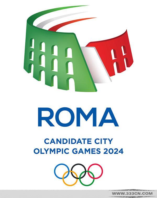 意大利 罗马 申办2024年 奥运会会徽 创意