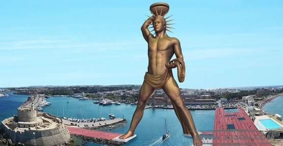 希腊爱琴海 罗德岛 太阳神铜像 古代七大奇观 AriAPalla