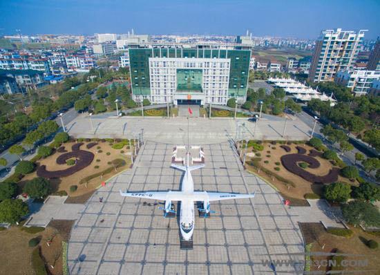 某镇政府 运七 客运飞机 装饰 创意