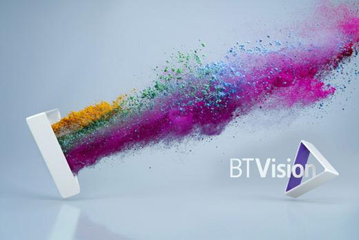 BT Vision rebranded 英国电信新的电视娱乐服务品牌 BT Vision 新标志