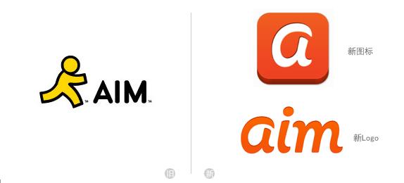 aim logo 美国在线(AOL)旗下老牌即时通讯软件AIM更新Logo