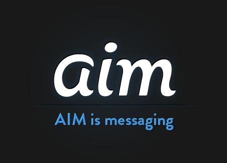 aim 美国在线(AOL)旗下老牌即时通讯软件AIM更新Logo