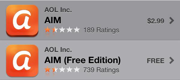 aim icons 美国在线(AOL)旗下老牌即时通讯软件AIM更新Logo