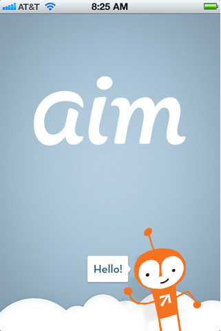 aim app icons 美国在线(AOL)旗下老牌即时通讯软件AIM更新Logo