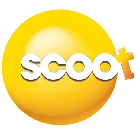 "flyscoot 新加坡航空旗下长途廉价航空公司""Scoot""标识发布"
