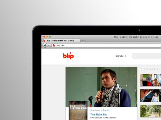 "cg website blip 4 网络电视服务商Blip.tv启用简化新品牌标识""Blip"""