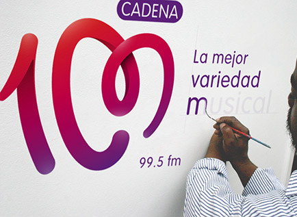 cadena100 4 西班牙人气电台Cadena 100换新品牌Logo