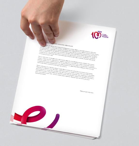 cadena100 letter 西班牙人气电台Cadena 100换新品牌Logo