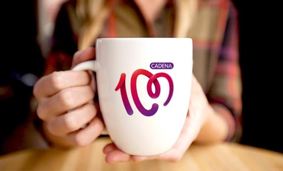 cadena100 mug 西班牙人气电台Cadena 100换新品牌Logo