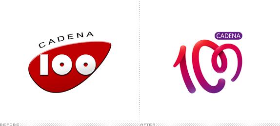 cadena100 logo 西班牙人气电台Cadena 100换新品牌Logo