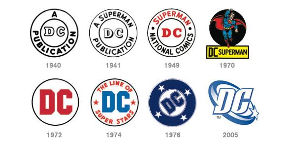 i dclogohistory 美国老牌漫画公司DC或将更换全新Logo