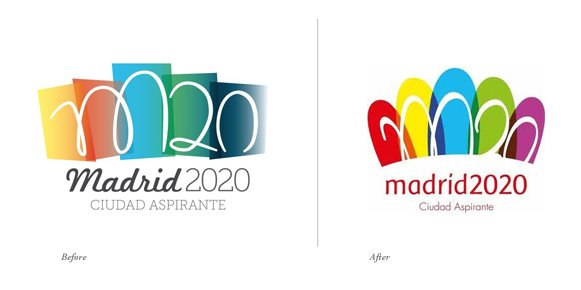 madrid2020 bid logos 西班牙马德里公布申办2020年奥运会标志