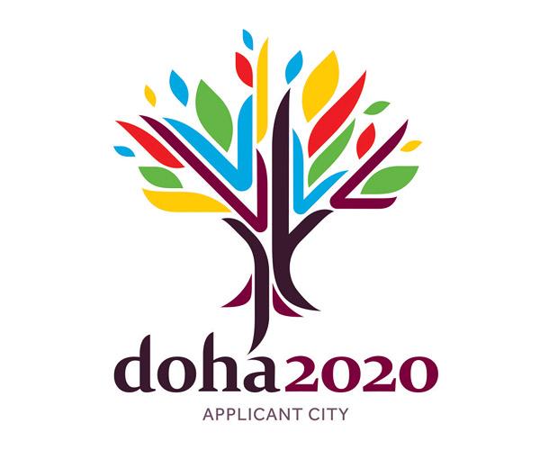 doha 2020 logo applicant city 卡特尔多哈公布申办2020年奥运会申奥标志