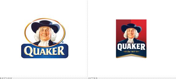 quaker logo 桂格燕麦片换新Logo和新包装