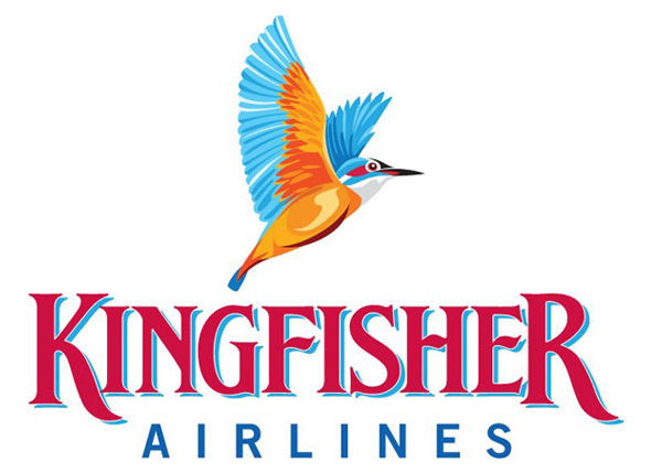 Kingfisher Airlines Logo 面临破产的印度翠鸟航空公司Logo