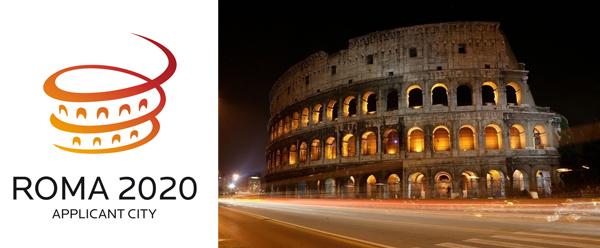roma 2020 罗马申办2020年奥运会申奥标识【已放弃申办】
