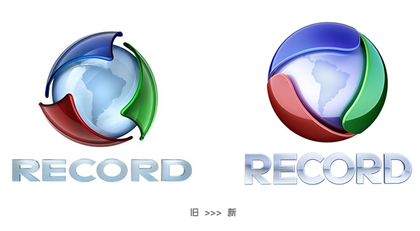 Rede Record logo 巴西第二大电视网Rede Record新台标