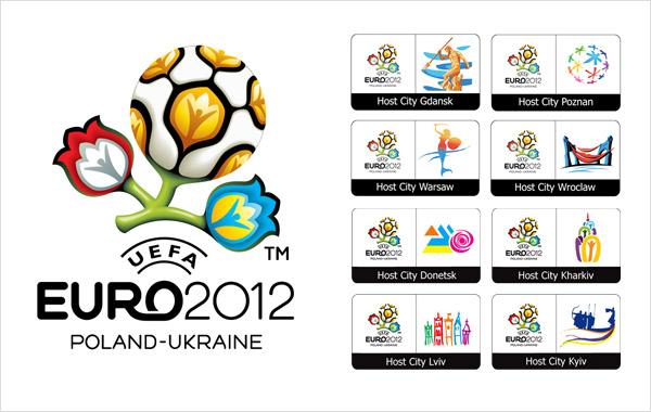 host city logos euro em 2012 2012年欧洲杯各主办城市组合标志