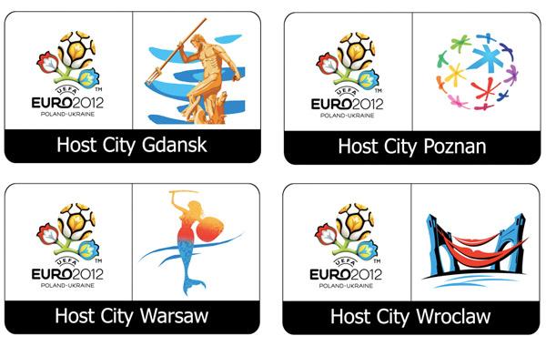 host city logos em 2012 polen 2012年欧洲杯各主办城市组合标志