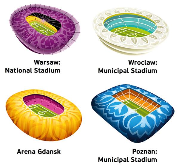 stadien host cities polen 2012年欧洲杯各主办城市组合标志