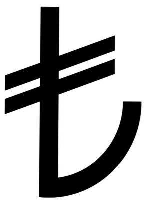 Turkey Lira Symbol 1 土耳其公布本国货币符号