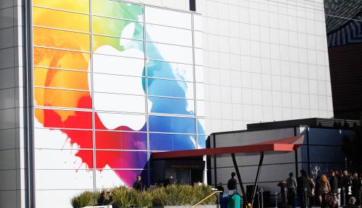 苹果彩色版新Logo低调亮相