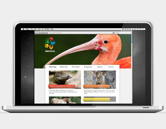 zoo praha web 布拉格动物园更换形象
