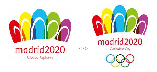 madrid2020 bid logo 2020奥运申办淘汰2城市,东京马德里等3城Logo升级